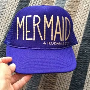 Mermaid trucker hat purple .